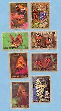 UMM AL QIWAIN stamps 1972 Butterflies, large format. 8 stamps.