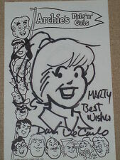 Dan DeCarlo hand drawn and signed original sketch of Betty Archie's Gals & Pals