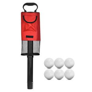 Golf Ball Retriever Bag Portable Golf Ball Shag Bag Ball Picker Easy To Pick Up