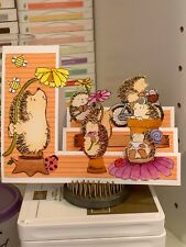 handmade Card Kit Stampin' Up! Penny Black Hedgehogs Flowers Summer Step Card