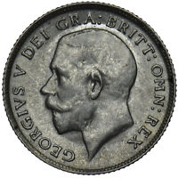 1917 SIXPENCE - GEORGE V BRITISH SILVER COIN - V NICE