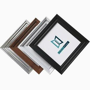 Traditional Photo Picture Square Frame Wide Swept Molding Black White Pewter