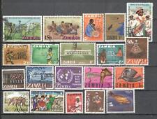 S6678 - ZAMBIA 1975 - LOTTO TEMATICI DIFFERENTI DEL PERIODO - VEDI FOTO