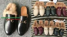 Leather Solid Slippers for Women