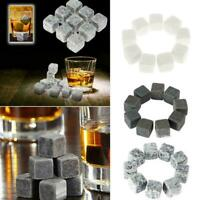 9Pcs Whisky Ice Stones Getränke Kühler Würfel Wein Whisky Rocks Granit J7K0