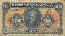 BANCO DE PORTUGAL 2$50 2 1/2 ESCUDOS 1922 - P-127- VERY SCARCE TYPE  NICE NOTE