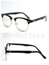 3613c307683 New Classic Clear Lens Clubmaster Wayfare Half Metal Frame Sunglasses Black