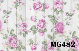 7x5FT Polyester Photo Background Pink Rose Vintage Flower Floor Studio Backdrop