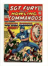 Sgt. Fury and His Howling Commandos #13 VINTAGE Marvel Comic KEY Captain America