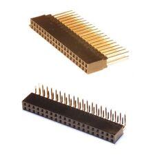 2x  40 Pin GPIO Headers - Right Angle & Long Pin - for Raspberry Pi 3 / Zero
