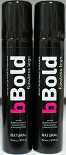 bBold Flawless Legs Instant Tan Make-up Water Resistant Spray TWINPACK NATURAL