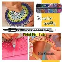Dual-ended Dotting Pen Nail Art Rhinestone Picker Wax Handle Crystal Pencil T1Y5