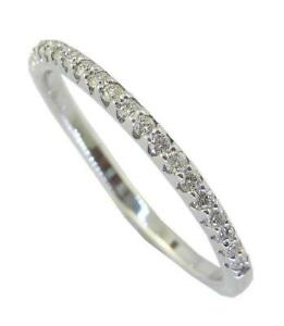 VVS/VS/SI/FG Wedding Stackable Ring 14K Solid White Gold 0.30 Ct Genuine Diamond