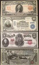Reproductions US Currency Set #1 Washington Jackson McKinley 1896-1907
