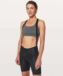 Lululemon women's 7Mesh Wk2 Bib-Short Black Size: M 150$