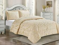 3pcs Quilted Bedspread Comforter Set in Double,King,Superking,Curtains 4 Colours