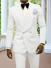 Double Breasted Groom Formal Tuxedos for Wedding Prom Party Men Suit Two pieces