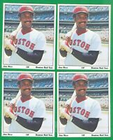 1975 SPPC PUZZLE BACK JIM RICE RC  HOF  BOSTON RED SOX   LOT OF 4 CARDS  NM