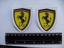 """Ferrari - """"Caracolant Horse"""" DECALS Self Adhésif une paire (ty1) livraison gratuite"""