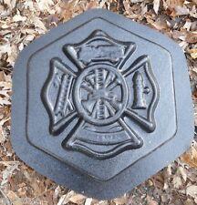 Fire man rescue concrete plaster mold plaque plastic mould