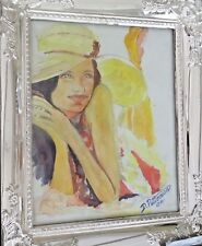 original watercolour painting young love