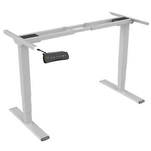 EDF42D Dual-motor Sit-stand Desk/ height-adjustable Table Frame OnlySilver