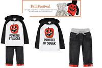 NWT Gymboree Boys Fall Festival Halloween Hoodie & Plaid Cuff Jeans  U-Pk 4T, 5T