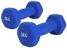 NEU 2 x 2 kg Hanteln Vinylhanteln Set Fitness Gewicht Kurzhanteln Gewicht Blau