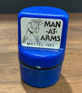 """He-Man / Masters of the Universe """"MAN-AT-ARMS"""" Vintage 1983 Mattel Rubber Stamp"""