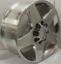 "Polished Aluminum 20"" 8 Lug Wheels Rims 2011-2018 GMC Sierra Denali 2500 3500 HD"