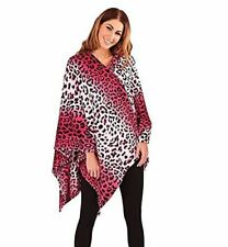 Ladies Printed Poncho Cape Oversized Shawl Wrap Open Front