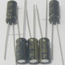 5x Panasonic FM 33uF 35V 105C Capacitors Low-ESR Impedance 5mm radial 5x11