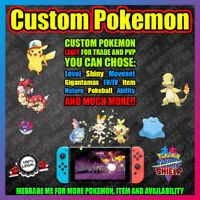 Any Custom Pokemon | Legit | Shiny | Perfect 6IV | Pokemon Sword Shield