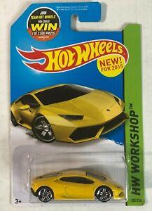 2015 Hot Wheels HW Workshop-Garage LAMBORGHINI HURACAN LP 610-4 Yellow