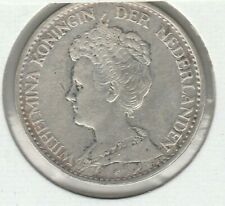 Netherlands 1916 1 Gulden Silver Coin KM-148 XF