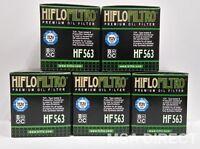2006 to 2015 HF563 HifloFiltro Oil Filter x 5 Pack Aprilia RXV450 Enduro