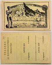 2065) Tessera di riconoscimento S.S. Juventus Calcio 1919/1920