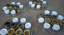 4 assiettes PYREX 4 douzaine de coquilles godets pots escargot pinces cuisine #8