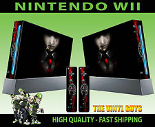 NINTENDO Wii Adesivo Alucard HELLSING calma 001 VAMPIRO Pelle GRAPHIC & 2 PAD Pelle