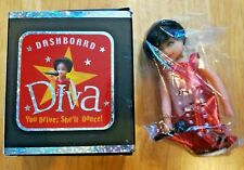DASHBOARD DIVA Doll Dancing Bobble Figure Running Press Red Dress