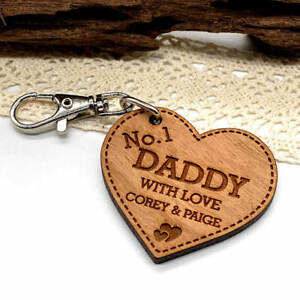 Personalised Gift For Him No1 Daddy Fathers Day Keyring, Grandad Birthday Gifts