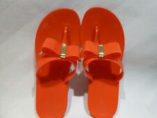 MICHAEL KORS Bow Thong Jelly Sandals Flip Flops Red Size US 6