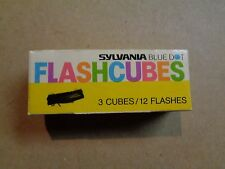 New Box Of 3 Sylvania Blue Dot Flashcubes 12 Flashes For Old Standard Cameras