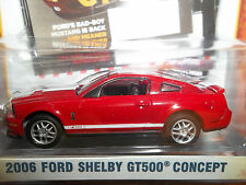 GREENLIGHT 1/64 ZINE MACHINES ENTERTAINMENT SERIES 1 RED 2006 FORD SHELBY GT500