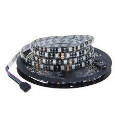 5M 5050 SMD 300 LEDs RGB  LED Flex Strip Ribbon Light Black PCB 12V Waterproof