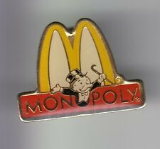 RARE PINS PIN'S .. MC DONALD'S RESTAURANT JEU SOCIETE GAME MONOPOLY HASBRO ~17