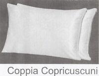 2 federe per guanciali cotone con cerniera 50x80 bianco gyll