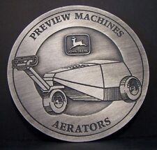 John Deere Aerator Preview Machines 1995 Feedback Pewter Medallion Golf & Turf