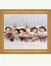 Victorian Trading Co Five Children Asleep in Bed Reprint Vintage Christmas Print