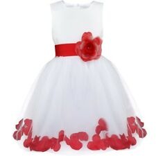 Flower Girl Tutu Dress Kids Baby Petals Princess Party Wedding Pageant Dresses